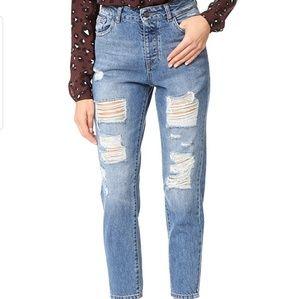 DL1961 Goldie high rise boyfriend distress jeans